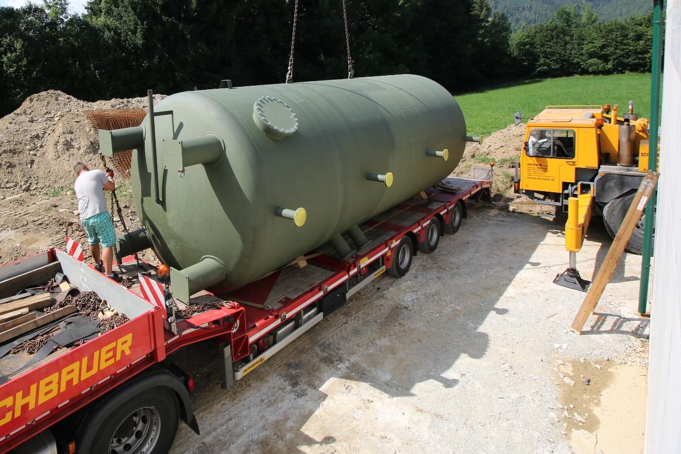 50000 Liter Puffer Anlieferung